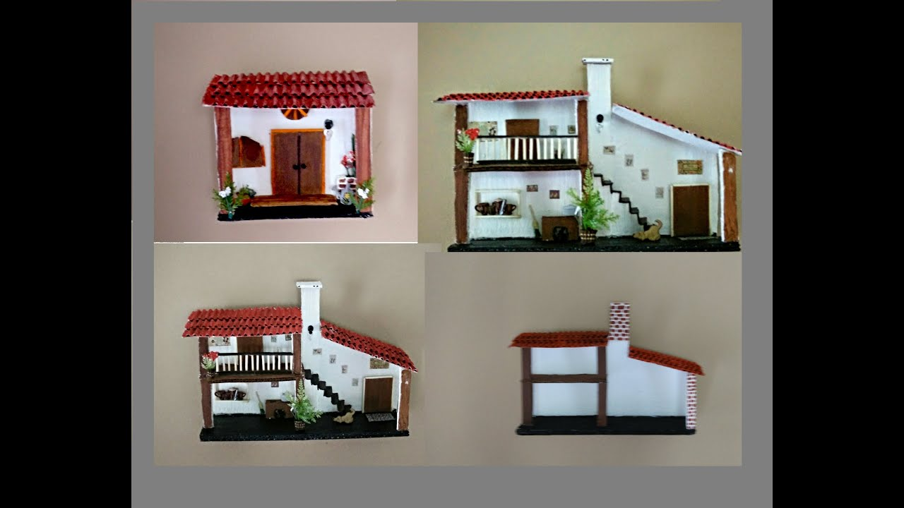 Casitas para decorar tu pared youtube - Adornos para el salon de casa ...