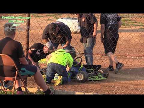 Dallas County Raceway Go Kart Racing Heat Races All Class August 1, 2017