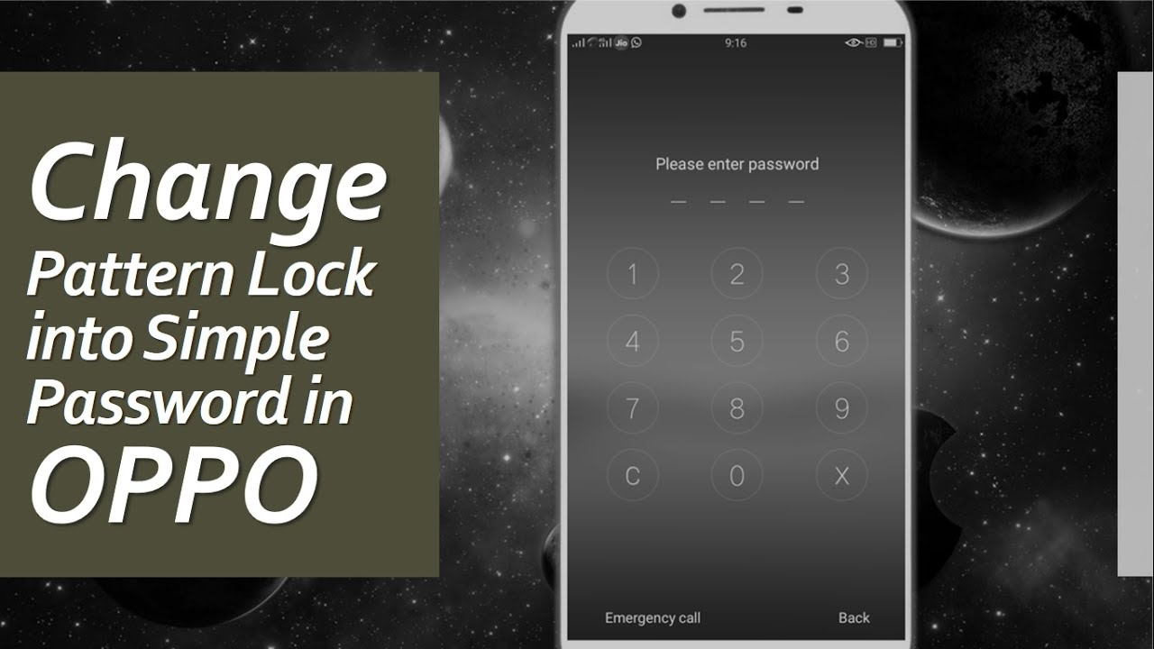How To Change Pattern Lock Into Simple Password In Oppo Youtube