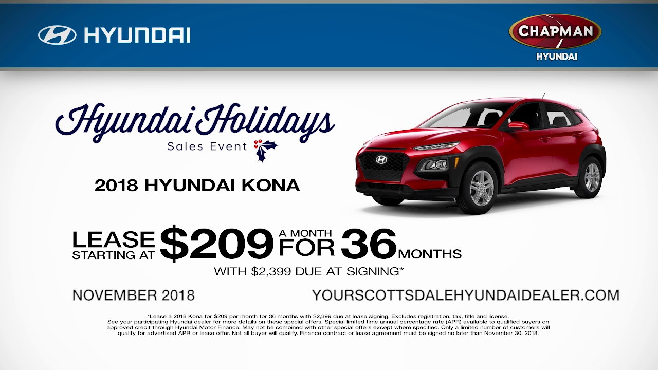 Chapman Hyundai Scottsdale >> Chapman Hyundai Scottsdale November 2018 Offers