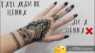 tatuagem de henna sem henna