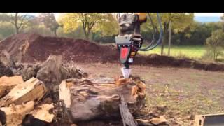 black splitter s2x baggerspalter kegelspalter holzspalter registro de splitter fendeuse log wood