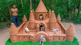 Rescue Dog From Raining Storm Build Dog House Mud For Puppies