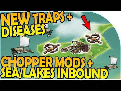 NEW DISEASES + CHOPPER MODS + NEW TRAPS + SEA/LAKES INBOUND- Last Day On Earth Survival 1.6.7 Update