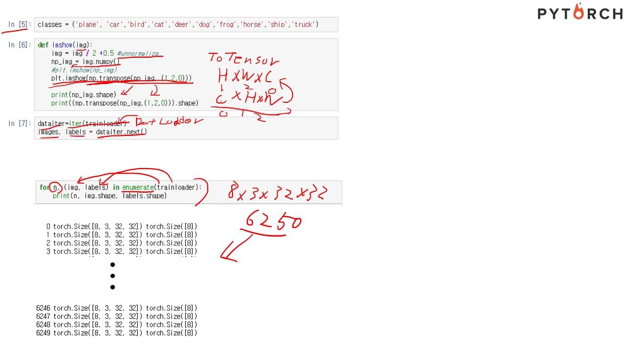 파이토치(Pytorch) 4  Data Loader & make NN (수정)