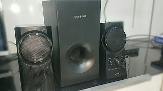 Samsung HW K20 POWERFUL 2.1 HOME THEATRE REVIEW/SOUND TEST BASS TEST