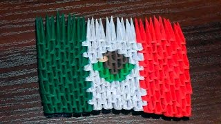3D origami flag of Mexico (Mexican flag) Tutorial