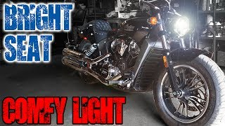 New Scout, New Bits - Corbin Brave Seat & LED Headlight Install