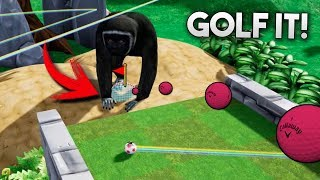 UN MONO CUSTODIA LA META! 999% HABILIDAD! GOLF IT