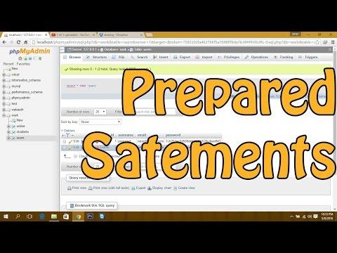 PHP MySQL : Prepared Statements