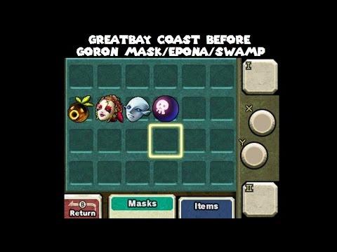 Majora's Mask 3D sequence break: Early Great Bay Coast/Zora Mask without Goron Mask/Epona/Swamp