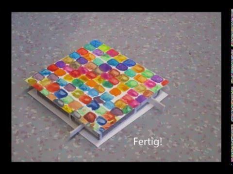geschenke basteln mit kindern der streichholzschachtelhalter youtube. Black Bedroom Furniture Sets. Home Design Ideas