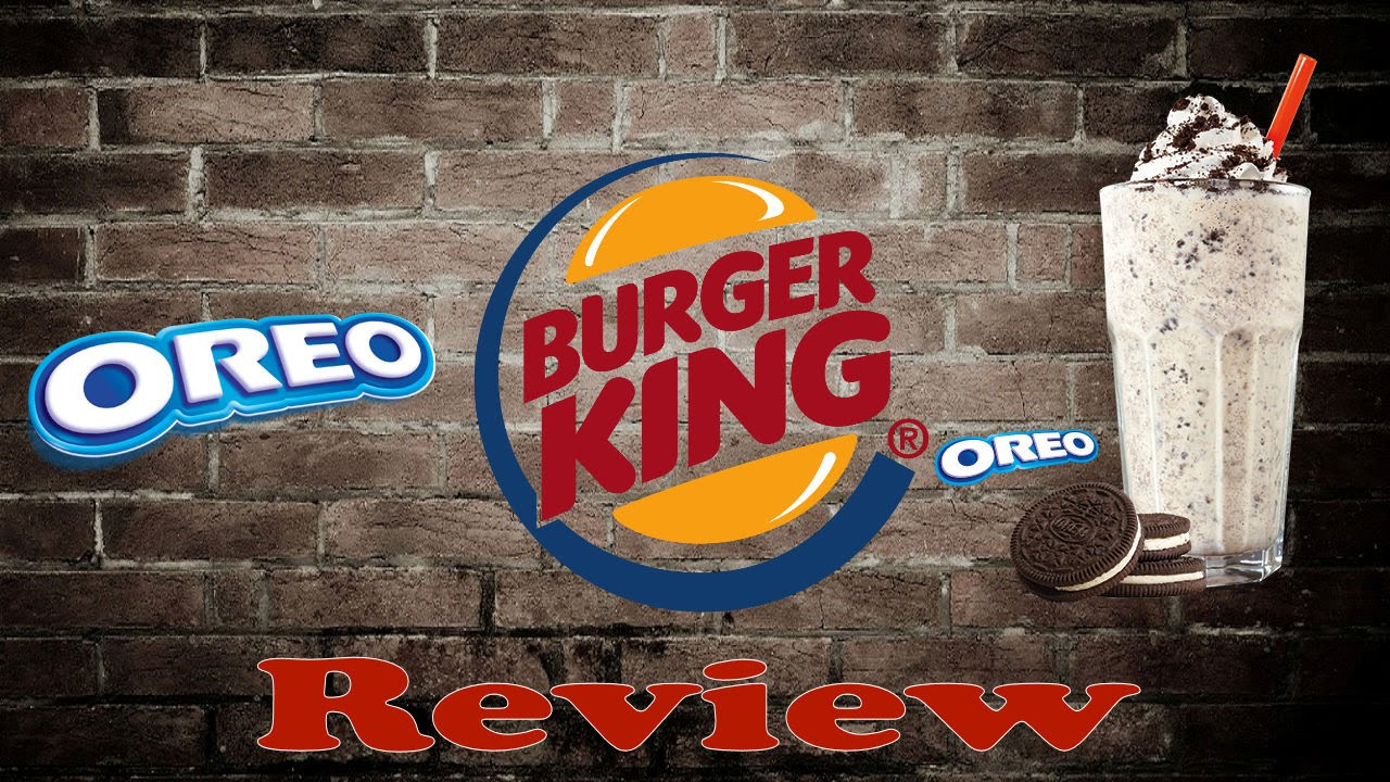 Burger King Oreo Shake ReviewSept 30th 2015 YouTube