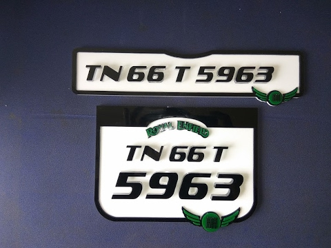 Royal enfield bullet number plates design fancy number plates for bikes