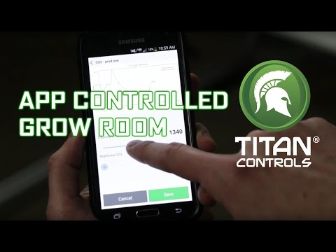 App Controlled Grow Room with Titan Controls Data Transfer Module