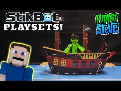 Stikbot Playsets - Pirate Ship & Country Farm Movie Set Stop Motion First Look Exclusive Reveal