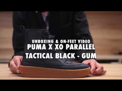 Puma X XO Parallel Tactical Black - Gum Unboxing   On feet Video at  Exclucity 557b6f614