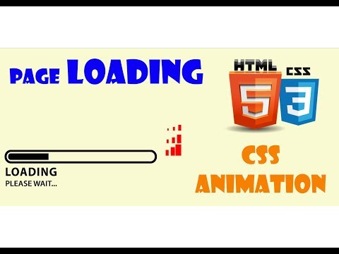 Tutorial Page Loading......CSS Animation 2019 thumbnail