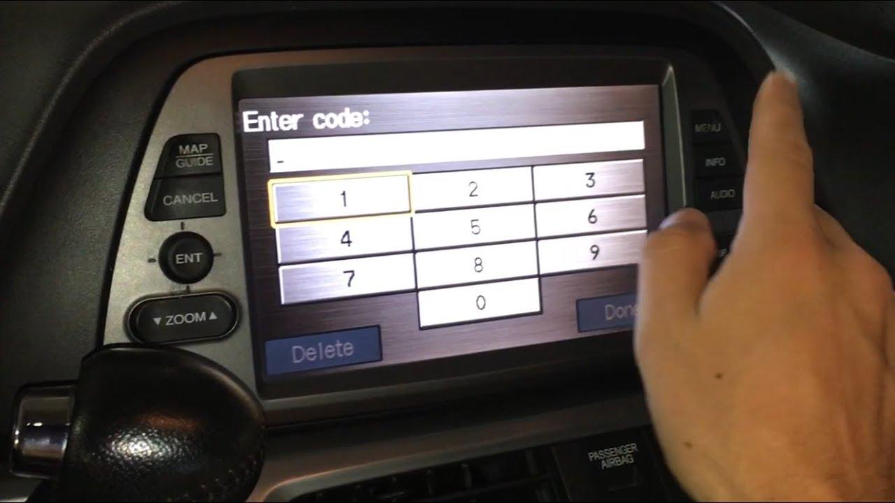 Honda Navigation Code Retrieval And Reset Instructions Youtube