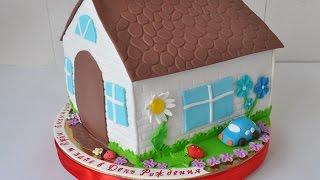как сделать торт домик