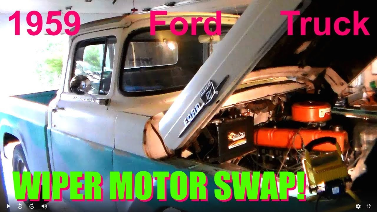 small resolution of 1959 ford fridge f100 restoration no 5 wiper motor service and replace