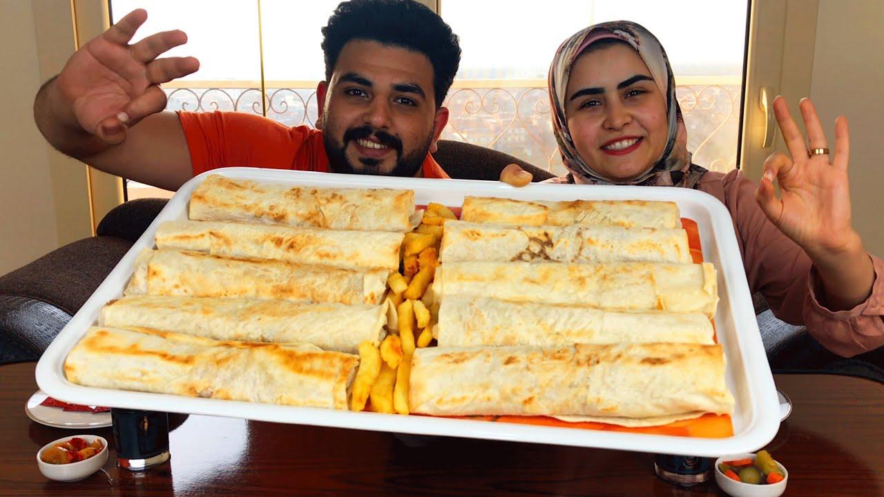 تحدي اكل 10 ساندوتشات فراخ بانية سوري 🍗و بطاطس 👈🏼 مع العقاب!!! 😥