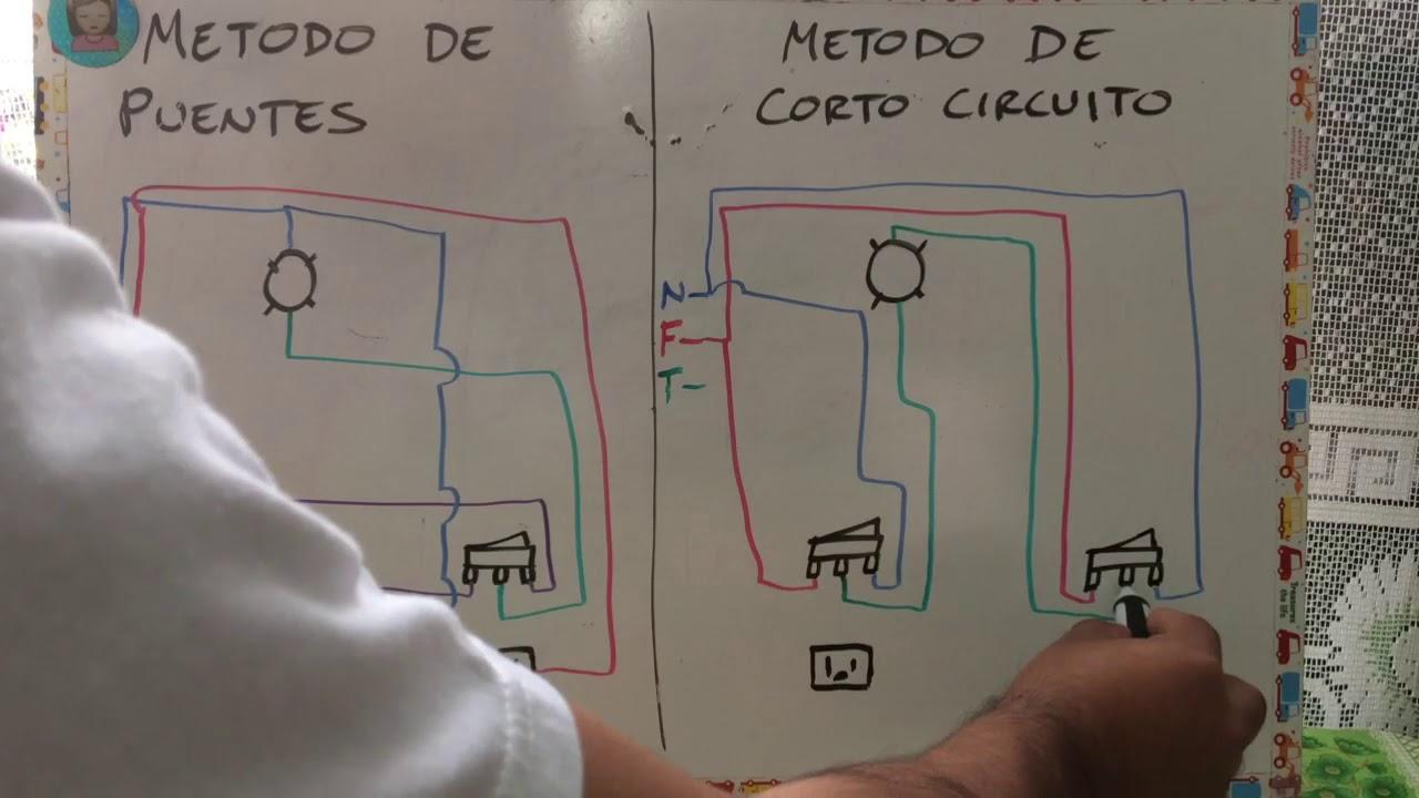 Dos Formas De Conectar Interruptores De Escalera Y Tomacorrientes En La Circuito Eléctrico Instalaciones Electricas Basicas Interruptor