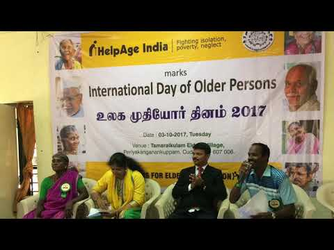 Observance of International Day of Older Persons at Thamaraikulam Elders Home on 03-10-17,