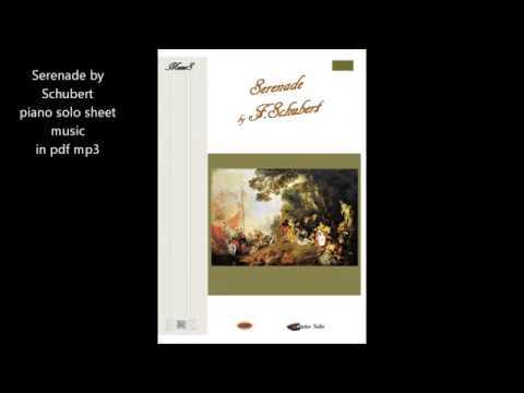 Serenade by Schubert piano solo sheet music pdf mp3 download