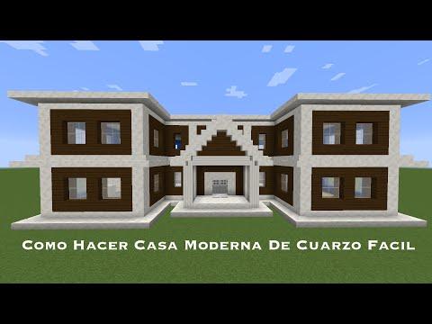 Como hacer una casa moderna en minecraft pt1 funnydog tv for Como disenar una casa moderna