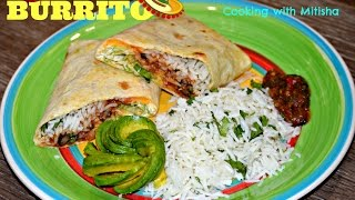 How To Make A Burrito | 7 Layers Bean Burrito | Burrito - Mexican Food Recipe