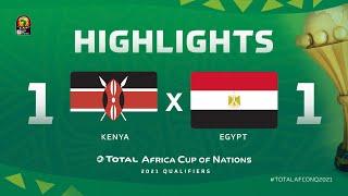 HIGHLIGHTS   #TotalAFCONQ2021   Round 5 - Group G: Kenya 1-1 Egypt