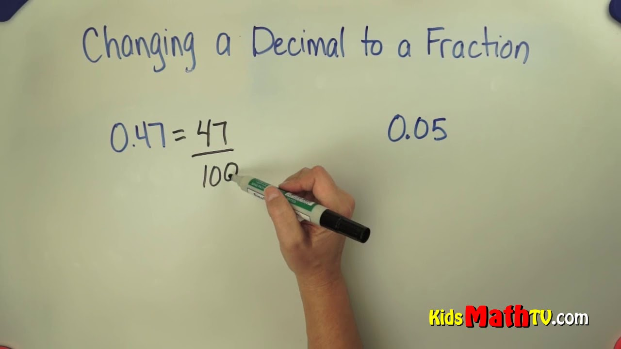 hight resolution of How to convert a decimal to a fraction step by step video - YouTube