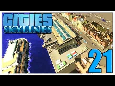 BUILDING CONTINUES!! THE HARBOR!! | Cities: Skylines Gamepla