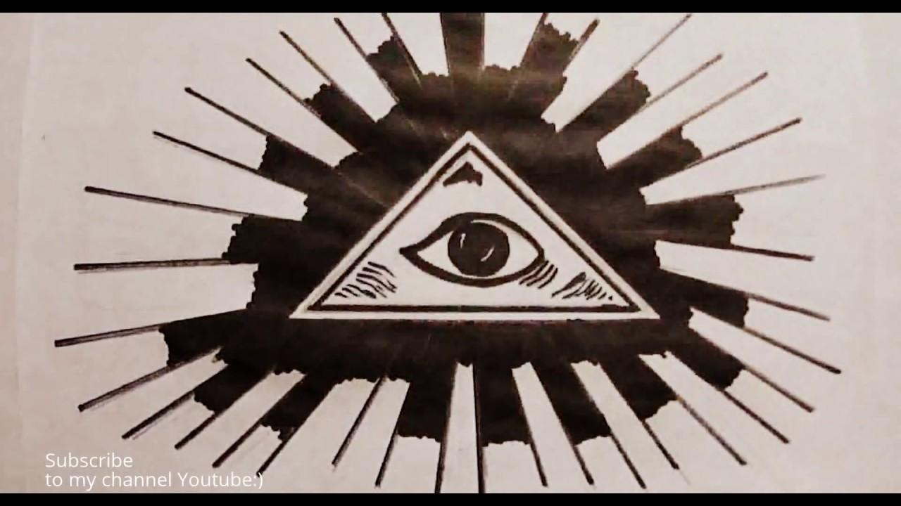 Как нарисовать пирамиду
