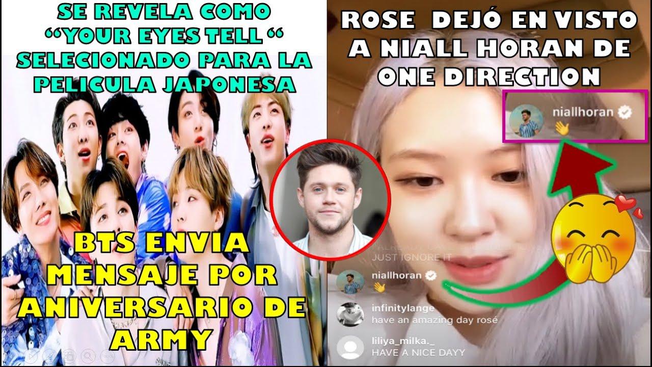 BTS HABLA SOBRE YOUR EYES TELL(VIDEO)|JIN LE DIO UN REGALO ESPECIAL/ROSE LO DEJÓ EN VISTO NIALL