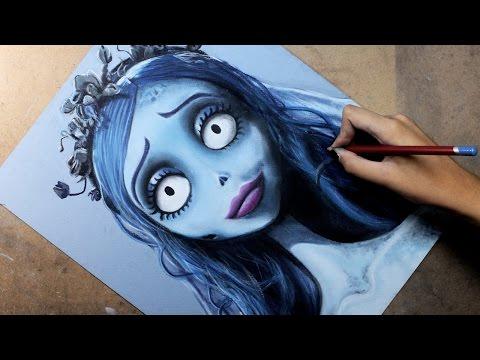 Speed Drawing: Emily (Corpse Bride /El Cadáver de la Novia) | Diana Díaz