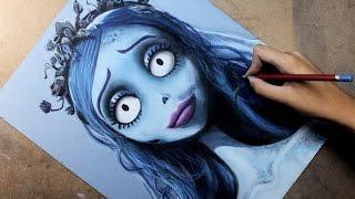 Speed Drawing: Emily (Corpse Bride /  El Cadáver de la Novia) | Diana Díaz