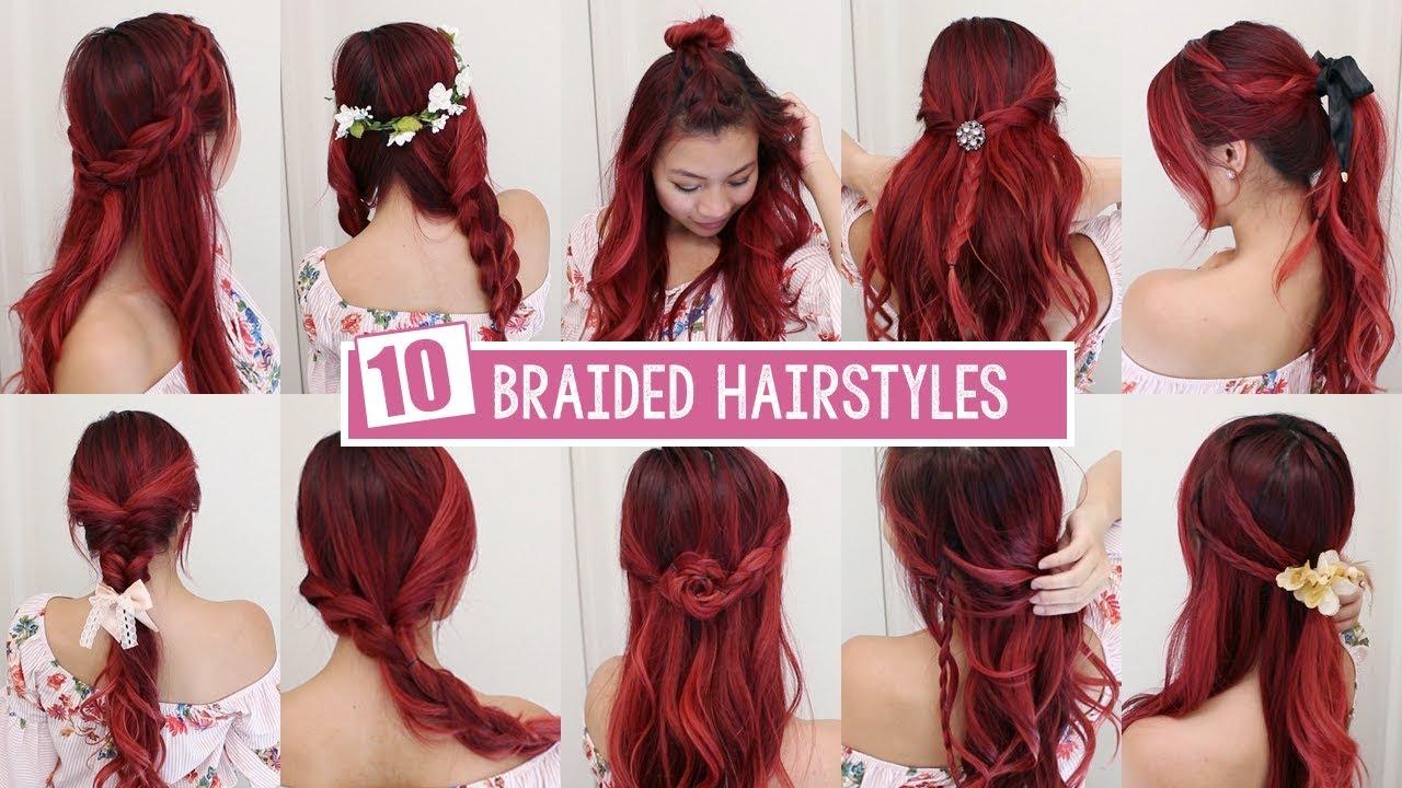 10 braided summer hairstyles 🌻 - youtube