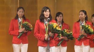 リオデジャネイロ五輪・パラリンピック水泳日本代表の報告会が26日、...