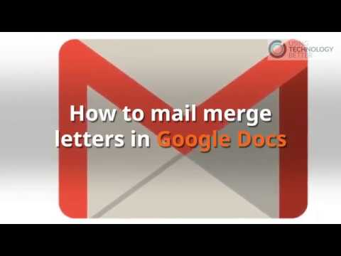 How to mail merge letters in Google Docs