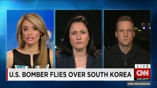 u s flies a b52 bomber over the demilitarized zone in south korea as tensions with the north rise