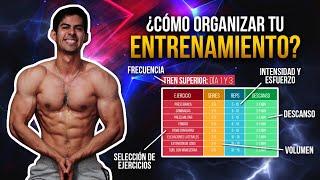 CÓMO ORGANIZAR TU RUTINA DE ENTRENAMIENTO / GUÍA COMPLETA screenshot 4