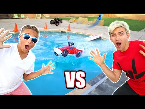 Thumbnail: RC CAR DRIVING ON THE WATER POOL JUMP CHALLENGE!!