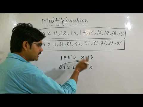 FAST MULTIPLICATION TRICKS(starting 1and ending 1)