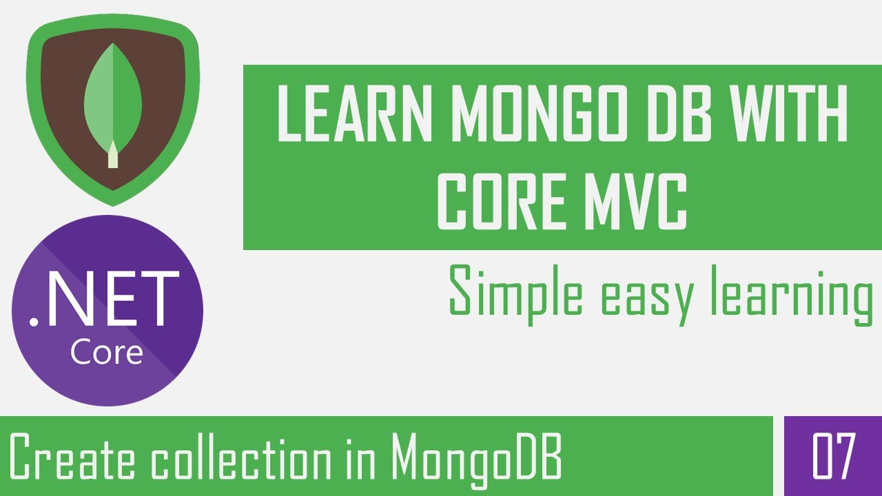 Create, Delete collection in MongoDB database | Show collection list | Asp.Net Core Mvc