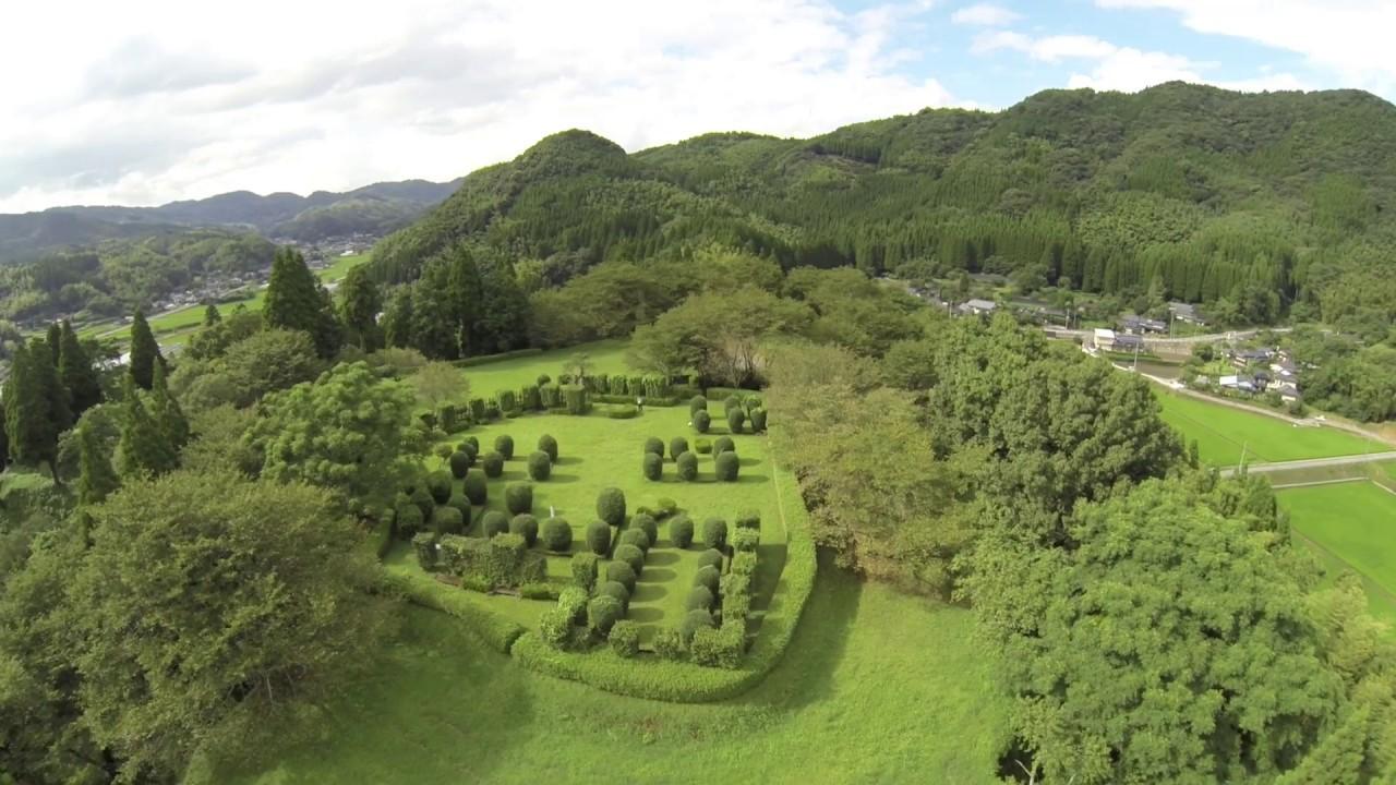 和水町 田中城趾の風景 - YouTub...