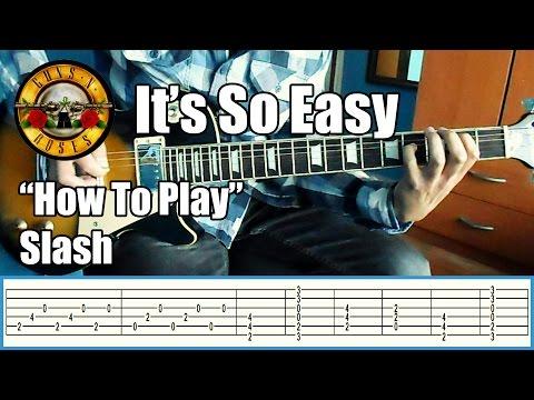 Guns N' Roses It's so easy SLASH ONLY with tabs   Rhythm guitar
