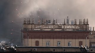 video: Watch: Fireworks factory catches fire in Moscow