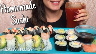 ASMR Homemade Sushi (Whispering) | Eating Show EatingWithJas91